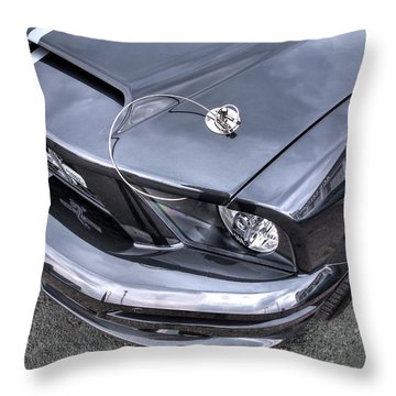 Shelby Super Snake At The Ace Cafe London Throw Pillow