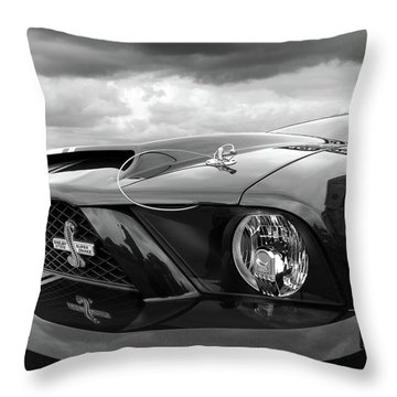 Shelby Super Snake Mustang Grille And Headlight Throw Pillow by Gill Billington