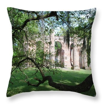 Sheldon Church 2 Throw Pillow by Gordon Mooneyhan