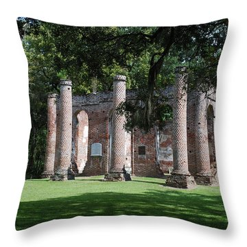 Sheldon Church 1 Throw Pillow by Gordon Mooneyhan