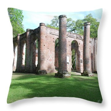 Sheldon Church 3 Throw Pillow by Gordon Mooneyhan