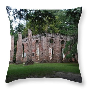 Sheldon Church 4 Throw Pillow by Gordon Mooneyhan