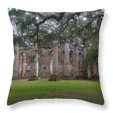 Sheldon Church 6 Throw Pillow by Gordon Mooneyhan