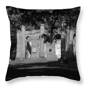 Sheldon Church 7 Bw Throw Pillow