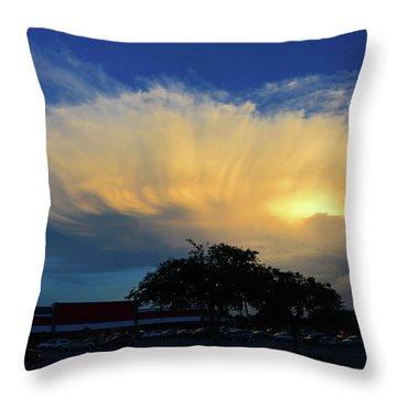 Shelf Cloud Study Central Florida Throw Pillow