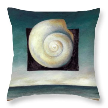 Shell 2 Throw Pillow by Katherine DuBose Fuerst