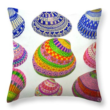 Shell Art Throw Pillow