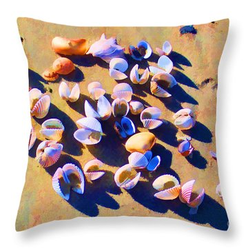 Throw Pillow featuring the photograph Shell Collection by Roberta Byram