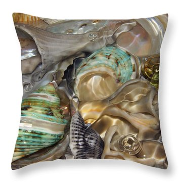 Shell Fluidity Throw Pillow