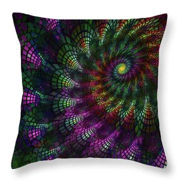 Shell Fractal Throw Pillow