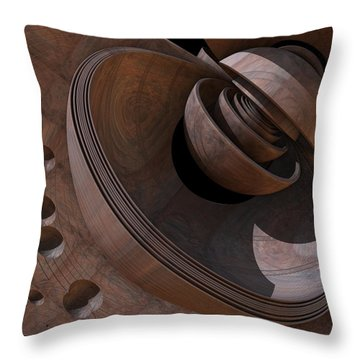 Throw Pillow featuring the digital art Shell Game by Lyle Hatch