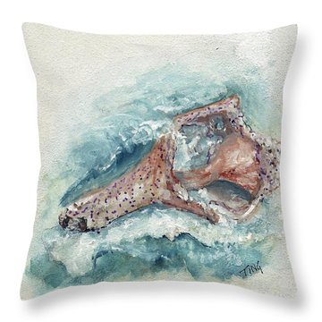 Shell Gift From The Sea Throw Pillow