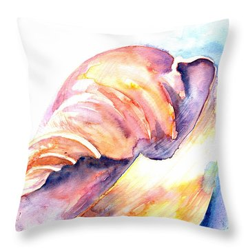 Throw Pillow featuring the painting Shell Mouth by Ashley Kujan