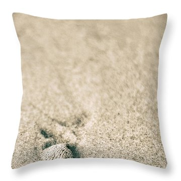 Throw Pillow featuring the photograph Shell On Beach Alabama  by John McGraw