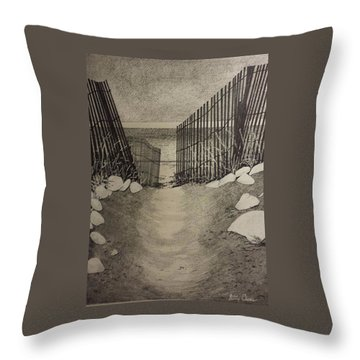 Shell Path Throw Pillow