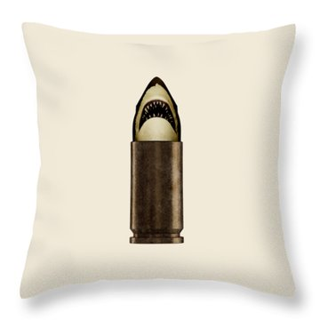 Shell Shark Throw Pillow by Nicholas Ely
