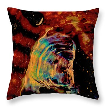 Shell Space Throw Pillow by Gina O'Brien