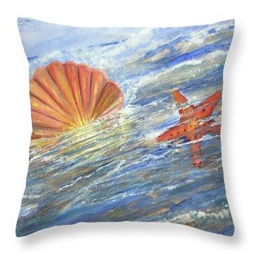 Shell Star  Throw Pillow