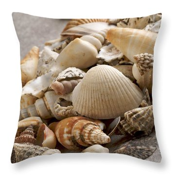 Shellfish Shells Throw Pillow by Bernard Jaubert