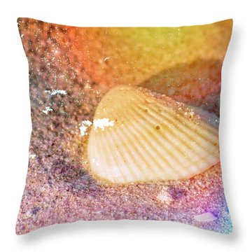 Throw Pillow featuring the photograph Shelling Out by Marvin Spates