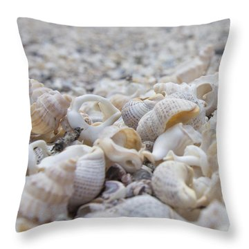 Shells 3 Throw Pillow