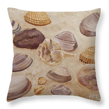 Shells And Stones Throw Pillow