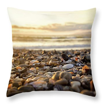Throw Pillow featuring the photograph Shells At Sunset by April Reppucci