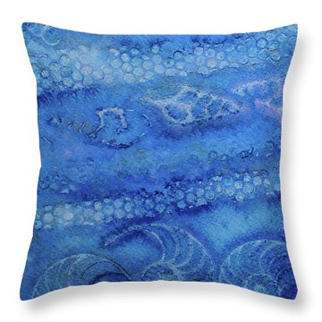 Throw Pillow featuring the painting Shells Galore by Mary Sullivan