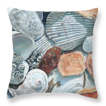 Shells Of The Puget Sound Throw Pillow