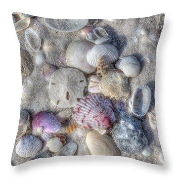 Throw Pillow featuring the photograph Shells, Siesta Key, Florida by Paul Schultz