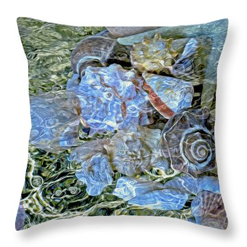 Shells Underwater 20 Throw Pillow