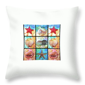 Shells X 9 Throw Pillow