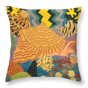 Throw Pillow featuring the painting Shellshocked by Erika Chamberlin