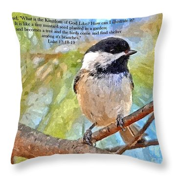 Shelter Among It's Branches Throw Pillow