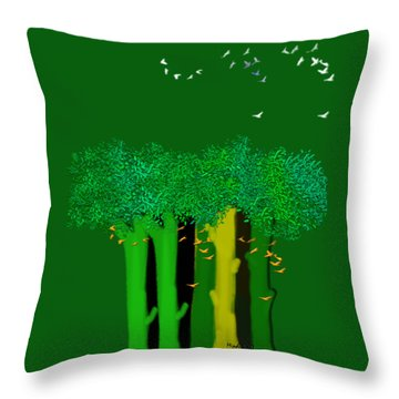 Shelter Throw Pillow by Asok Mukhopadhyay