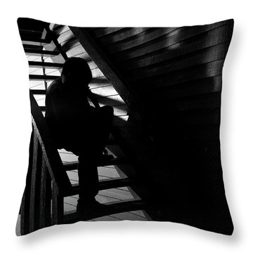 Throw Pillow featuring the photograph Shelter by Eric Christopher Jackson