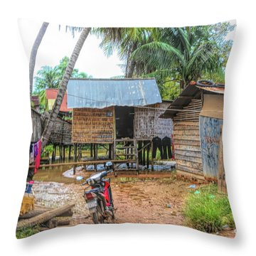Shelter Home Cambodia Siem Reap I Throw Pillow