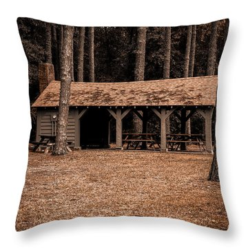 Shelter In The Woods Throw Pillow