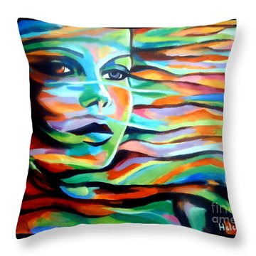 Sheltered By The Wind Throw Pillow by Helena Wierzbicki