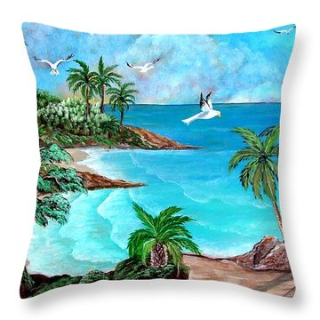 Sheltered Cove Throw Pillow