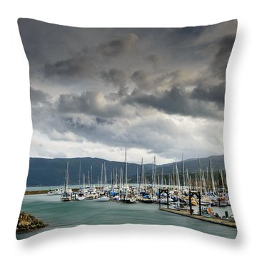 Throw Pillow featuring the photograph Sheltered by Dan Mihai