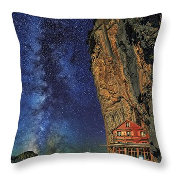 Sheltered From The Vastness Throw Pillow