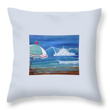 Sheltered Waves Throw Pillow