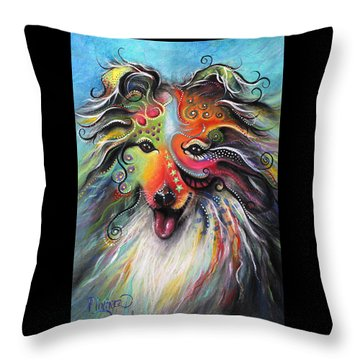Sheltie  Throw Pillow by Patricia Lintner
