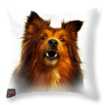 Sheltie Dog Art 0207 - Wb Throw Pillow