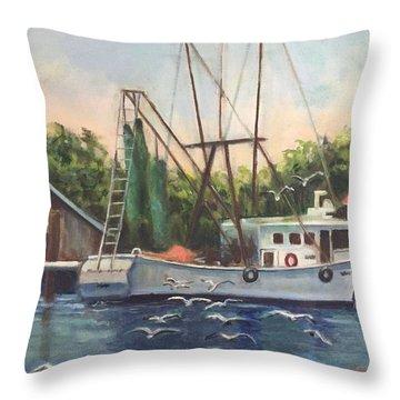 Shem Creek  Throw Pillow
