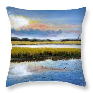 Shem Creek Sky Throw Pillow