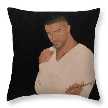 Shemar Moore Throw Pillow
