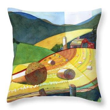 Shenandoah Haystacks Throw Pillow