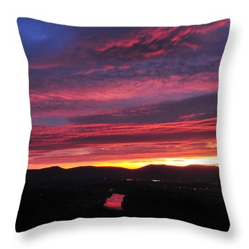Throw Pillow featuring the photograph Shenandoah Morning Glow by Lara Ellis
